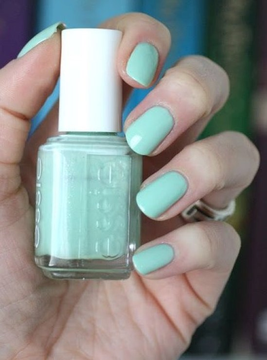 Fashion Playground is a pistachio colored nail polish with a subtle shimmer that is borderline bright and bold, but is a good ostentatious color to add a small pop of green in your closet.