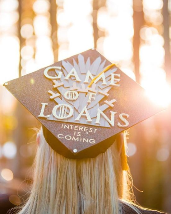 Graduation is an exciting time, but with the uniform often feeling so boring and well, uniform, the ceremony can feel a little impersonal. Here are 10 graduation caps ideas that are super funny and creative to help you reflect on your time at university and put a personal stamp on your graduation outfit! 1) 'The Sleeping Grad' Putting a spin on the classic title of 'The Sleeping Beauty', this is a phrase that is likely to be highly relevant to most graduates, having gone through university having rolled sleepily out of bed and into lectures after a crazy night out and a bad hangover. Graduation is no exception!  2) 'Thousands of Tears Later' We sail through University life riding the storm, experiencing major highs and lows - whether it's frequently choosing to party over working on an essay and then frantically writing it while panicking the night before the deadline, or accidentally revising the wrong topic for that all-important test and freaking out in the exam hall. This cap is a funny way to summarise all those years of Uni struggles and emotions! 3) 'She Doesn't Even Go Here... Anymore' This is a nostalgic way to wave goodbye to University and bring humour to the emotion of leaving an institution and people that you have studied alongside for years. Using the original Mean Girls font and pink background is a great way of keeping it light-hearted and fun.  4) 'Already Forgotten Everything' Many graduates will relate to going through three or more years of university and realising how little they actually remember of those years of lectures on the day of graduation. This is a super sassy way of calling out this experience! Adding a forgetful icon like Dori will not only add a splash of rich royal blue colour to a black hat, but also add to the humour and universal appeal.  5) 'I Want to Be Were the People Are - Employed!' This is a great quote that immediately gets the original lyrics rolling off your tongue, and when it comes to Disney songs, this can only be a good thing! Behind the humour, this phrase carries a very real message - it is an inspiring quote that'll motivate you and your graduating peers to remember what graduation is truly about and focus on planning for the future! 6) 'Can I Take a Nap Now?' A sprinkle of metallic gold or silver is a great contrast to the boring black of a graduation cap. Simply couple it with a funny phrase like this and you have a winner! If you're a grad, you'll know how tiring University can be and how sleep deprived you often are - particularly during final year - so this phrase is perfect for graduation! 7) 'I Am %100 Certain That I am %0 Sure of What I'm Going to Do.' This is a humorous reflection of how so many graduates feel on graduation day. It can be easy to panic about your future plans (or lack of them!) when you talk to so many classmates who seem to have their dream job waiting for them after graduation, so this cap is a funny way to show yourself and your peers that you are taking your time to decide on what to do in life. No pressure! 8) 'I Wined a Lot But I Did It!' This is a witty way not only of looking back on your time at college with fondness - from nights out, to wining and dining on dates, to literally wining - while giving yourself a metaphorical pat on the back for making it to graduation! 9) 'I Finally Got the 'D'!' This is so perfect for those graduates who have a naughty sense of humour and want to showcase this side of their personality along with their achievement. With the addition of the bright red and gold, your cap is sure to stand out! This one speaks for itself! I hope this list of 10 graduation cap ideas has got you thinking about how you would like to dress up your graduation cap. Let us know your thoughts in the comments! Featured Image Source: