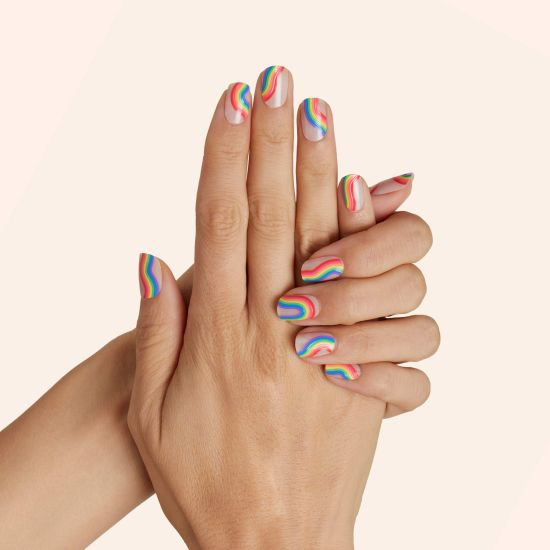 Rainbow nails for Gemini