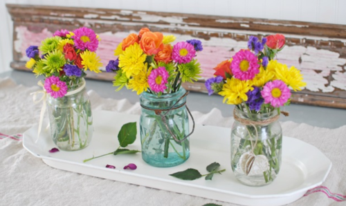 Spring/Summer centerpiece that is fun and bold