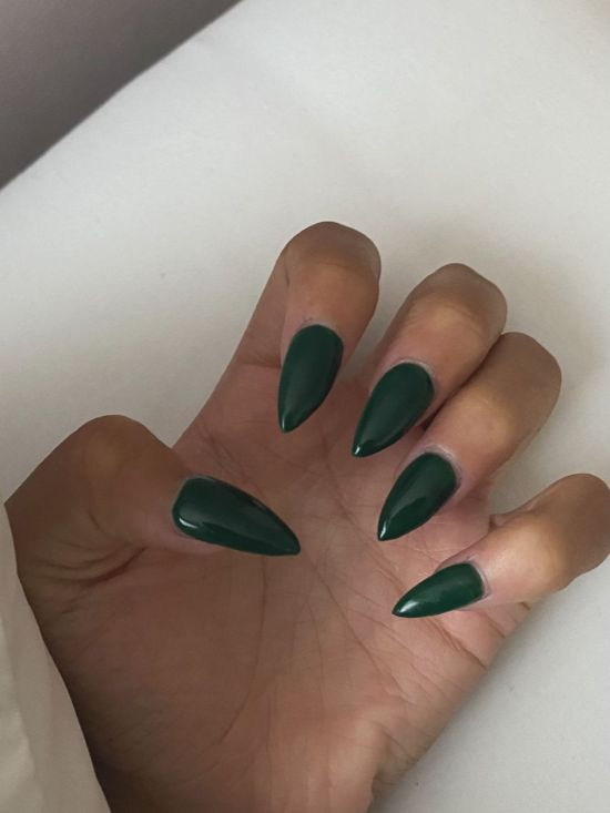 Deep Green Nails for Scorpios.