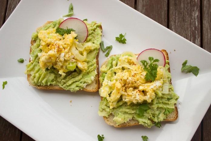 avocado radish toast