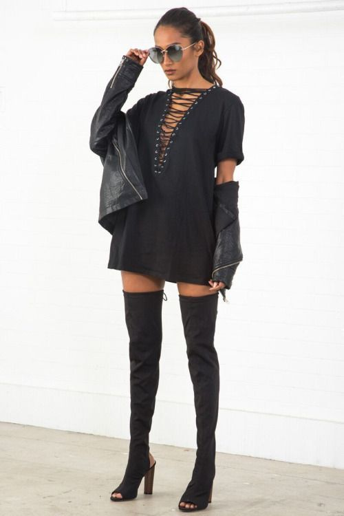 How To Style Thigh High Boots
