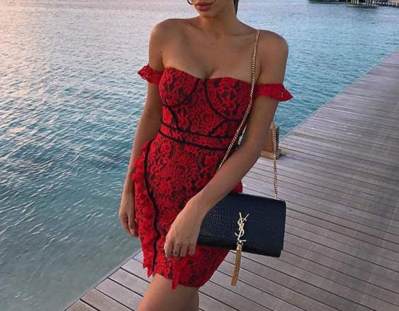 12 Red Lace Dress Looks To Rock This Valentine's Day