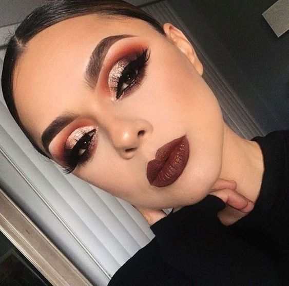 Dark Red Glam