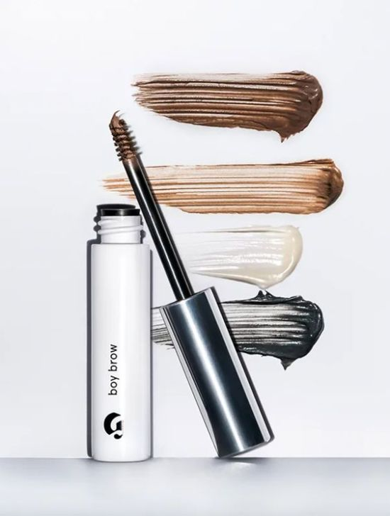 One of the tinted brow gel make up products, from the brand Glossier.