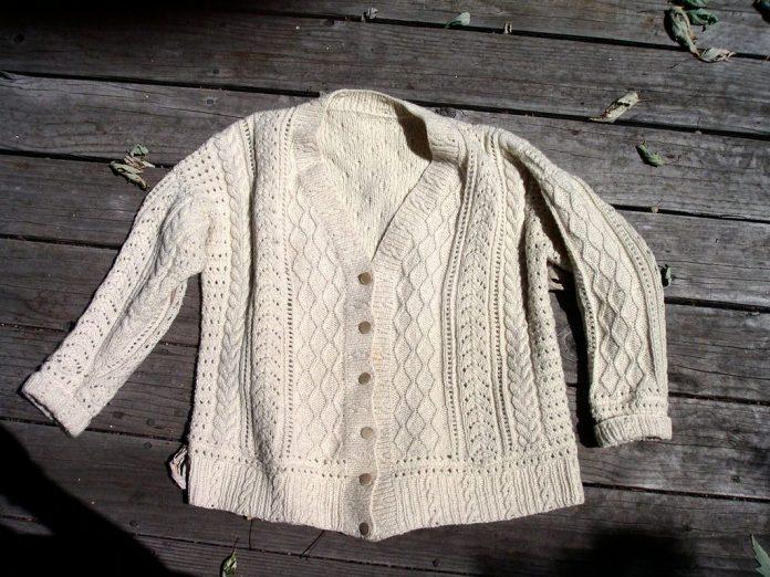 cream fisherman sweater