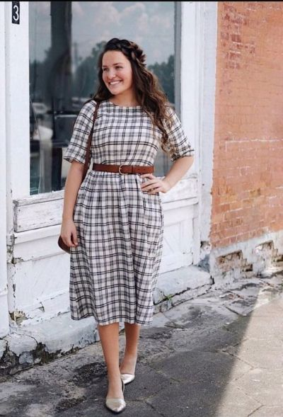 The 10 Best Ways to Style A Flannel Dress This Fall