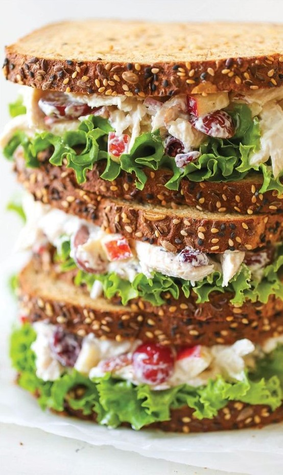 The Greek Yogurt Chicken Salad Sandwich may sound gross, but it looks aesthetically pleasing to the eye.