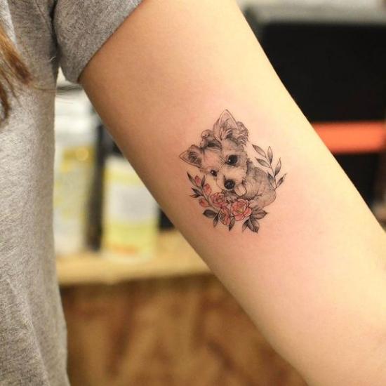 pet dog puppy tattoo ideas
