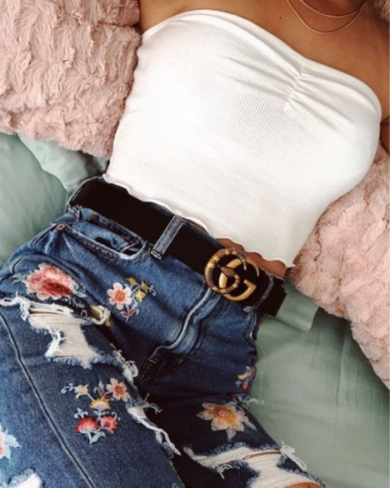 7 Jeans And A Nice Top Outfit Ideas You Need To Check Out