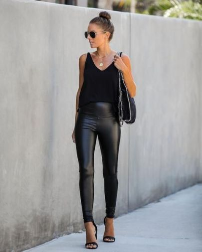 How To Wear Leather Leggings