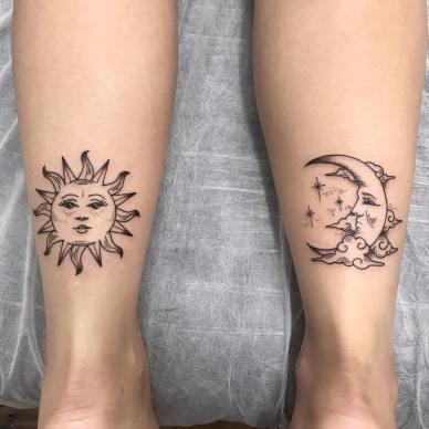 20 Beautiful Sun and Moon Tattoos Ideas