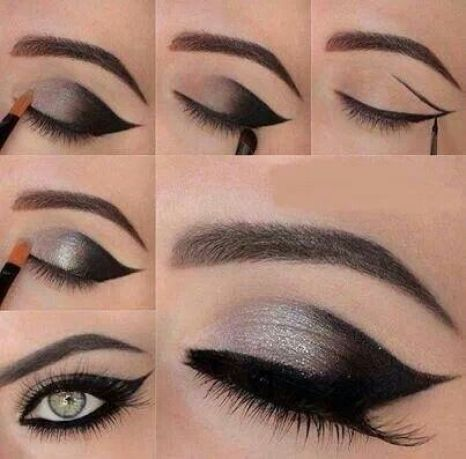 This cat eye makeup is perfect for going out!