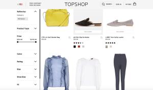 Topshop Screenshot Website
