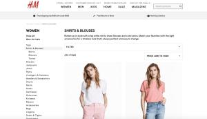 H&M Screenshot Website