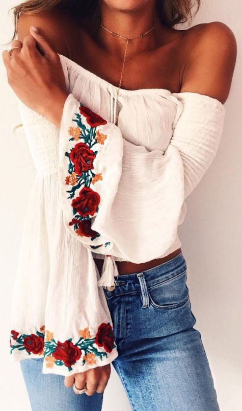 Flowy pieces are great to have in your bohemian style wardrobe!