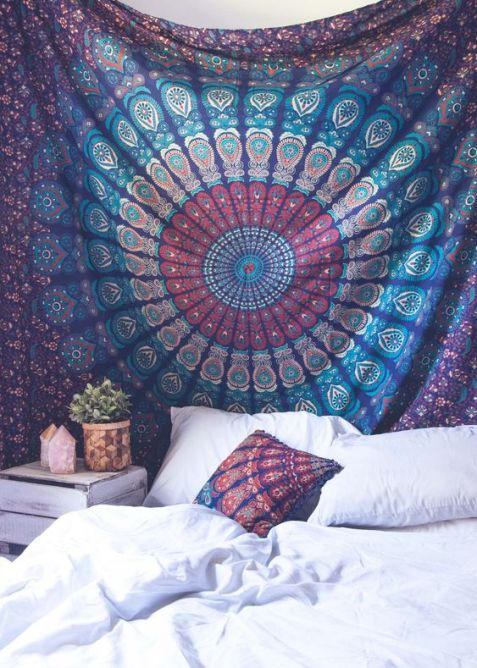 Tapestries are an amazing Uni room decoration idea!