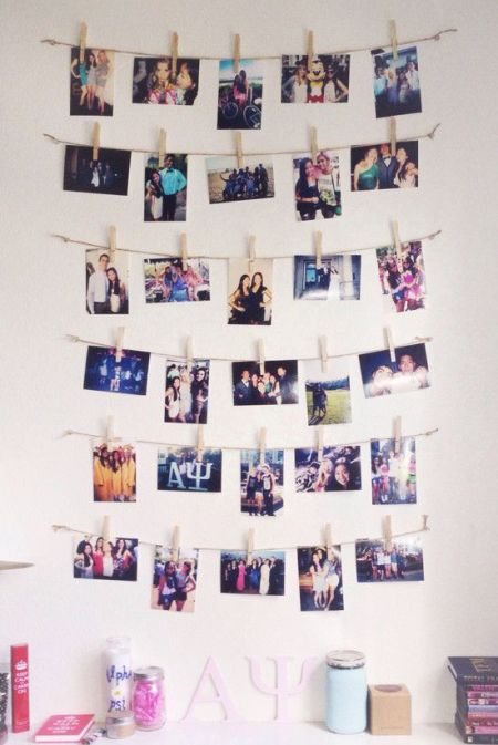 This is one of the best ways to make your room  YOUR ROOM  Print off some  of your favourite pictures  tie them up with some string and hang them  across your. How To Decorate Your Bedroom For Under  100   Society19 UK