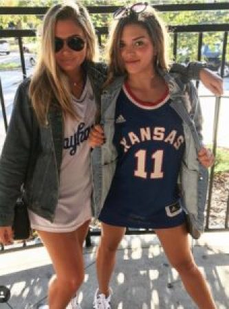 This one of the cutest gameday outfits at the University of Kansas.
