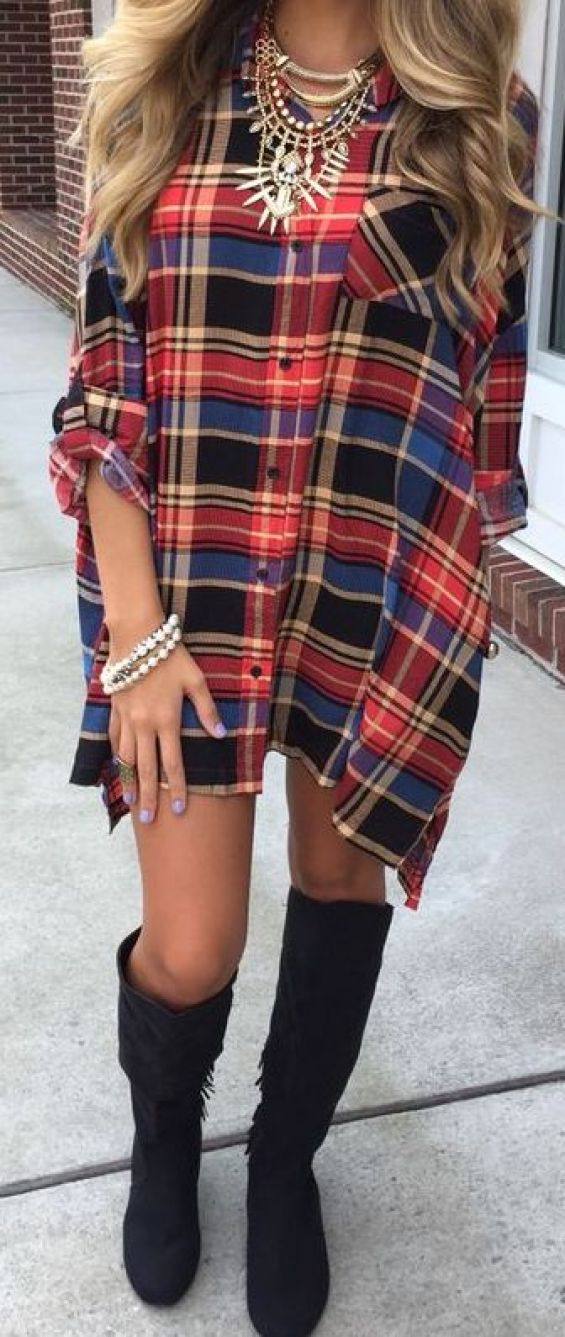 Check out these cute ways to wear plaid dresses!