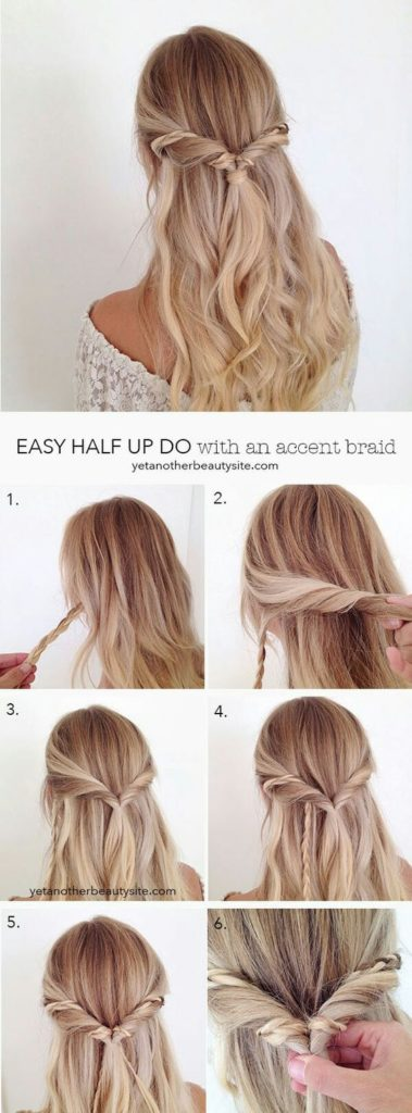 15 Half Up Half Down Hairstyles For Long Hair Society19