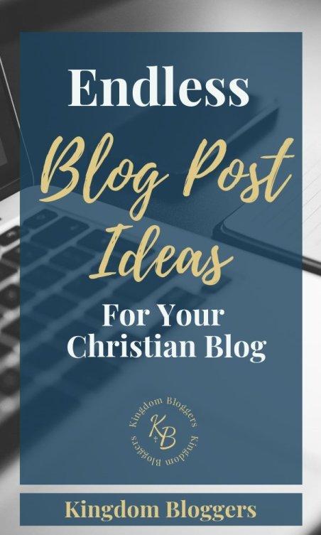 Chrsitian Blog Post Ideas