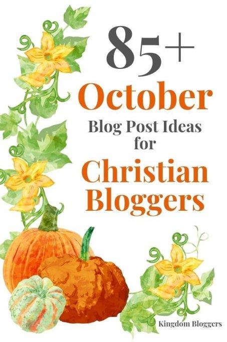 October Blog Post Ideas