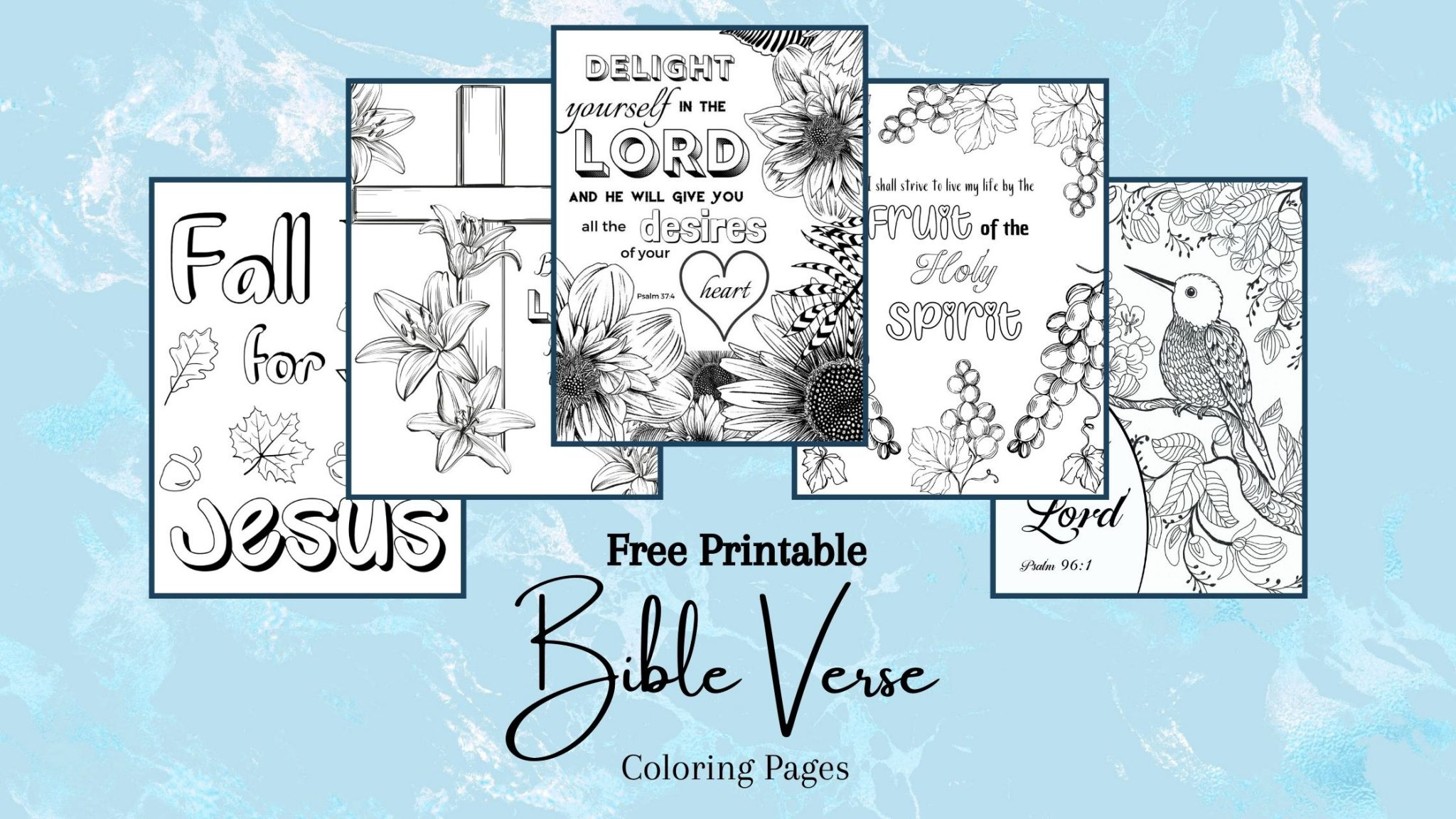 Free Printable Bible Verse Coloring Pages For Women And