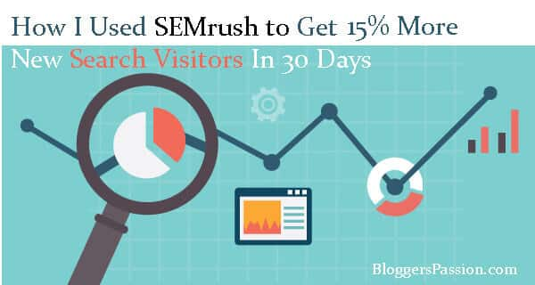 increasing search traffic by 15% using semrush tool