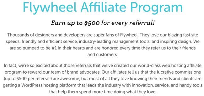 Programa de afiliados de FlyWheel