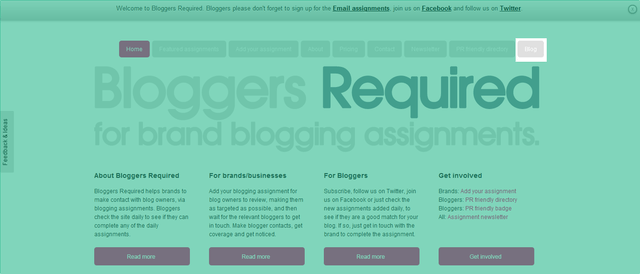 Bloggers Required Blog