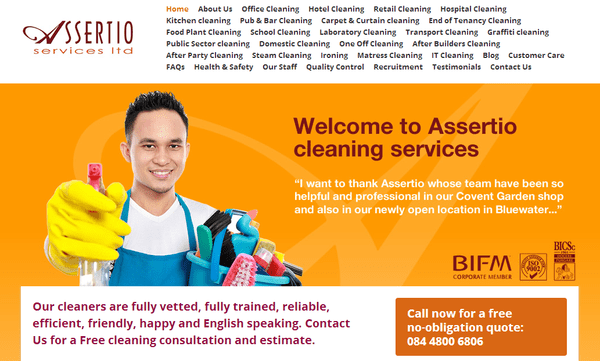 Blogger outreach assignment: Promotion / Review of our New Website - Assertio Services - Office Cleaning London for Payment