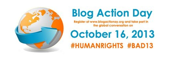 Blogging assignment: Get involved with Blog Action Day 2013. This years theme is Human Rights.