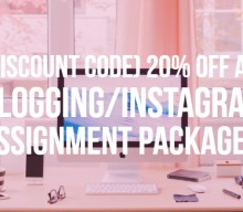 (Discount code) 20% off all blogging/Instagram assignment packages until the 30th Sept 2018