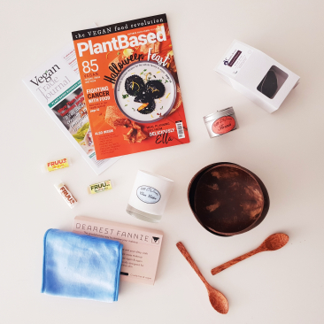 Flatlay beauty and home haul from Plantbased Live