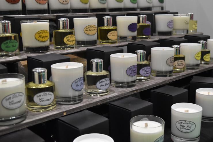 Happy Scents candles and diffusers