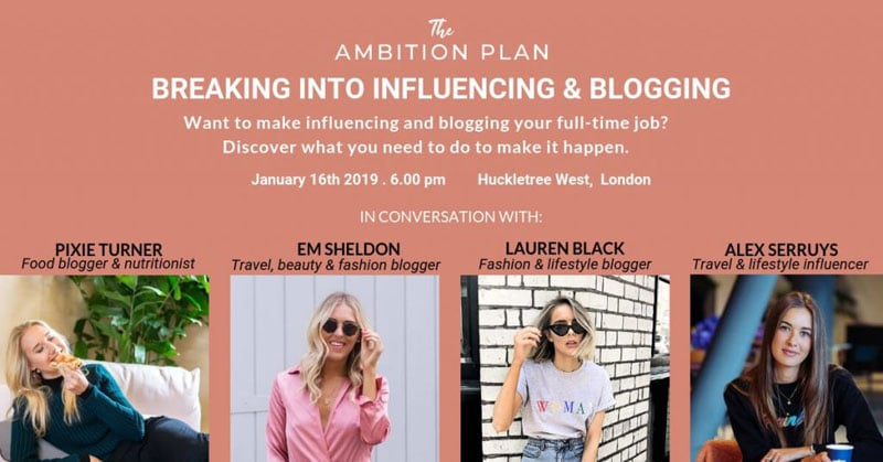 Book tickets. UK bloggers: Learn how to seriously grow your blog in 2019 (Blogging event London, 16th Jan 2019)