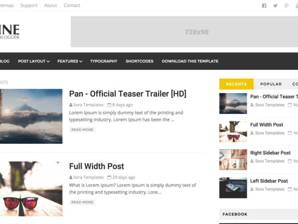 DZine Blogger Template Download Free Template
