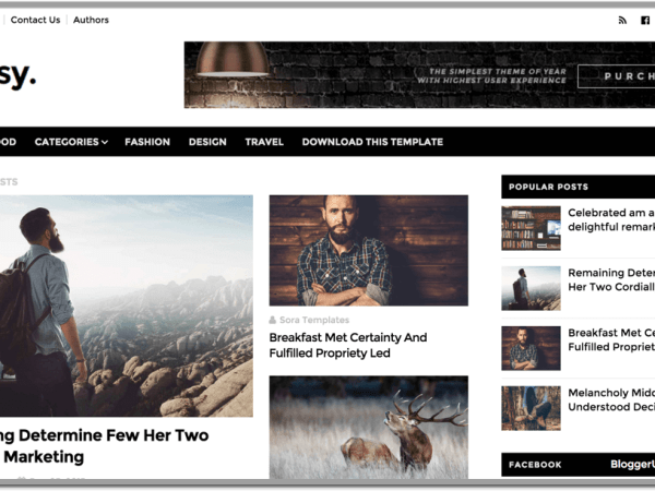 Glossy Blogger Template Preview Theme