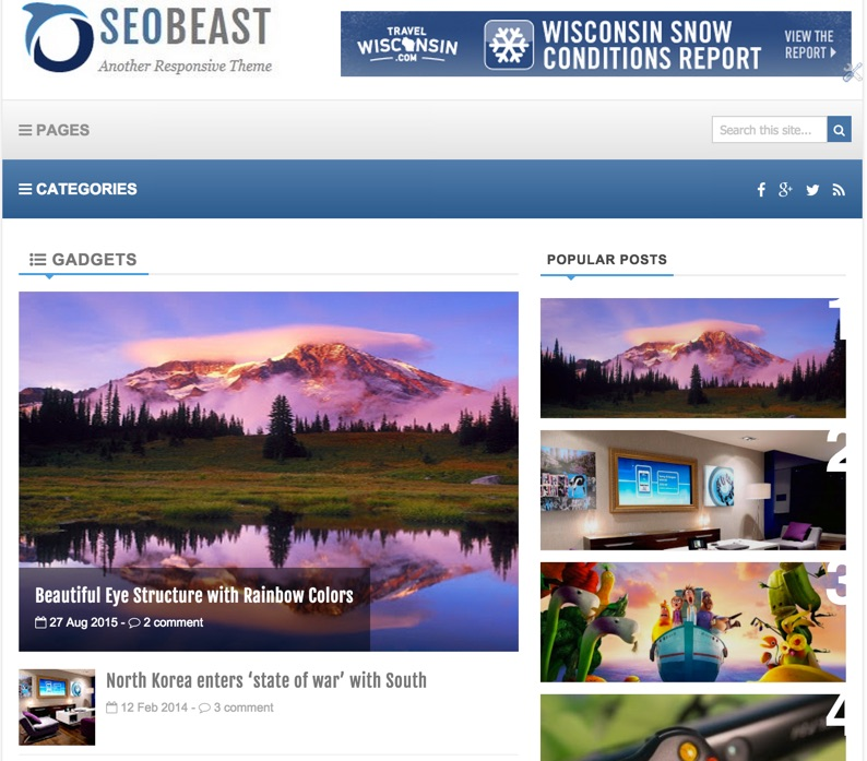 Seo Beast Blogger Template – Blogger User