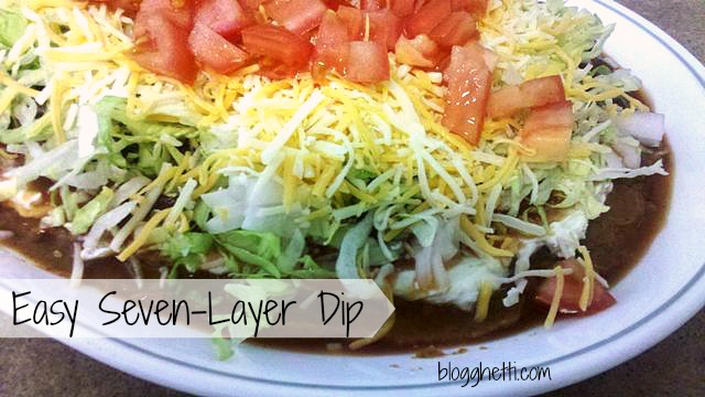 """This recipe for Seven Layer Dip is simple and delicious that turns your favorite """"taco"""" toppings into a spicy dip."""