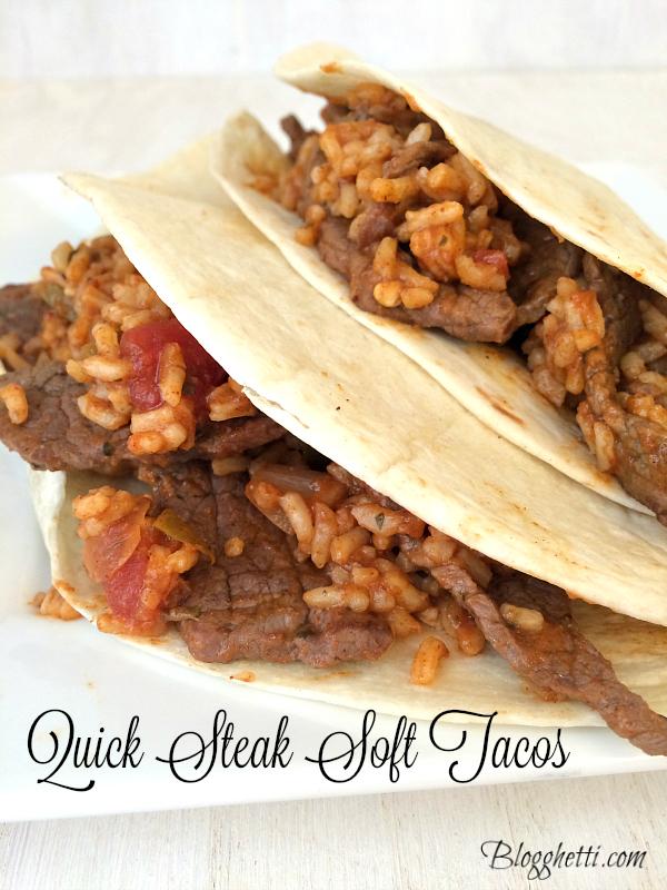 Quick Steak Soft Tacos