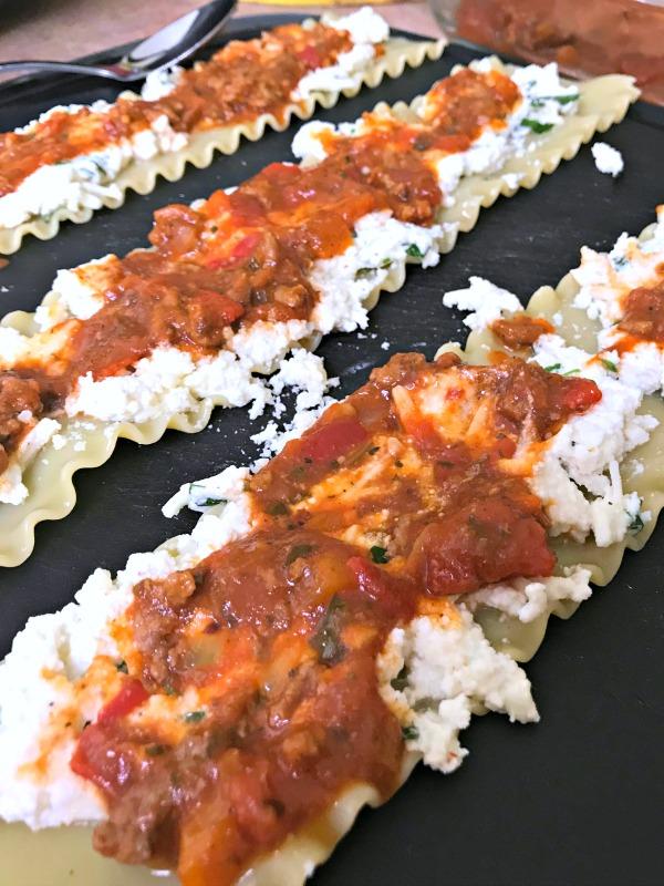 Lasagna Rolls prep