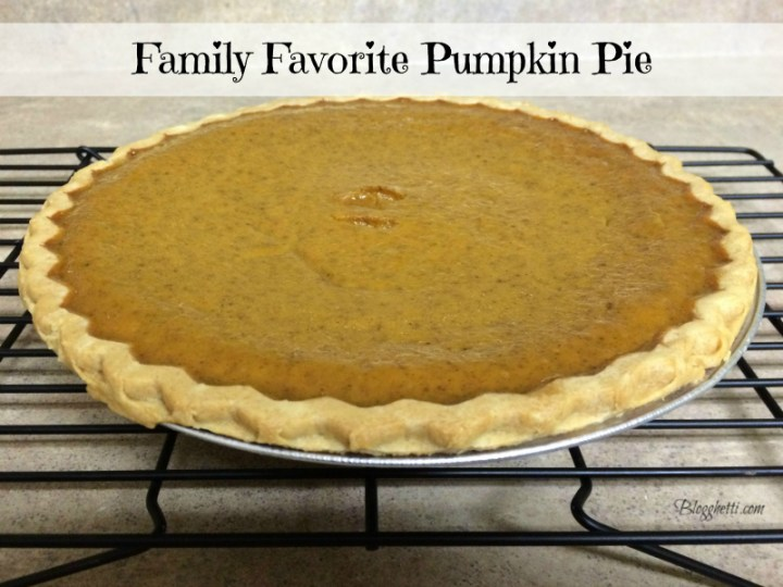 family favorite pumpkin pie