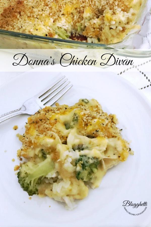 Donna's Chicken Divan casserole