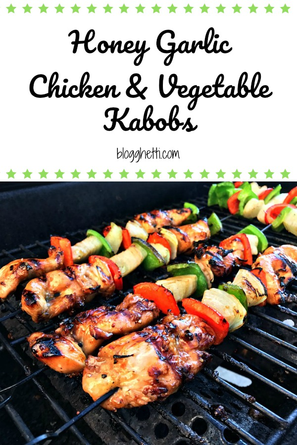 Honey Garlic Chicken and Vegetable Kabobs