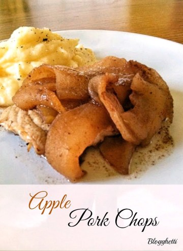 The pork is tender and moist and picks up the flavors from the apples and cinnamon perfectly. The apples and cinnamon make you think you are eating a scrumptious dessert then when you bite into the pork chops it brings a new level of flavor to the mix.
