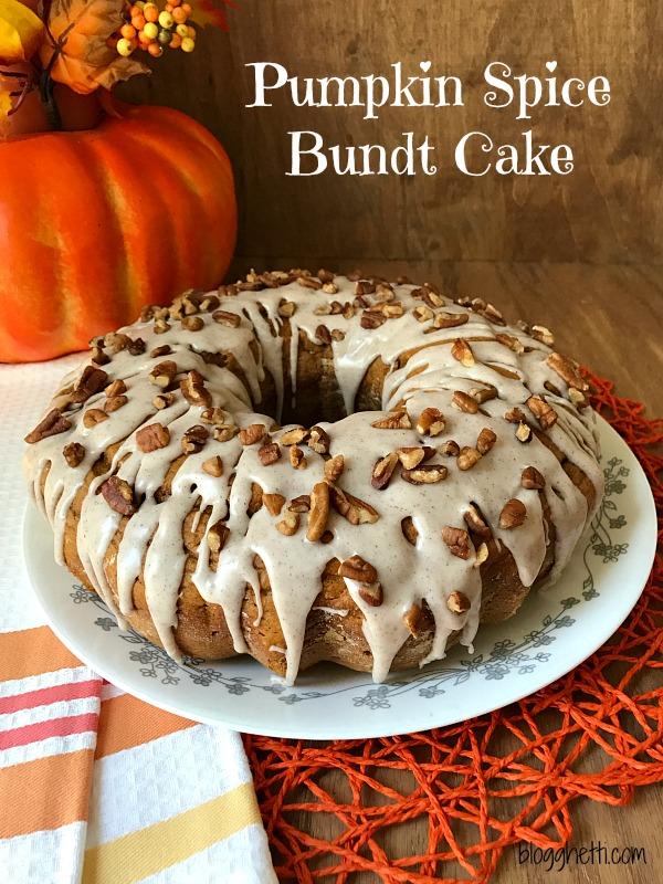 Ingredient Pumpkin Spice Bundt Cake