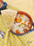 Slow Cooker Chicken Pot Pie Soup with Parmesan Cheese Pie Crust Wedges